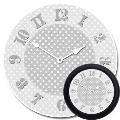 Gray Dotted Swiss Clock mix