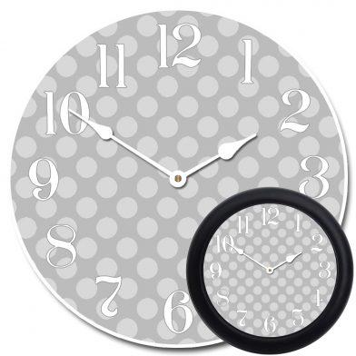 Gray Polka Dot Clock mix