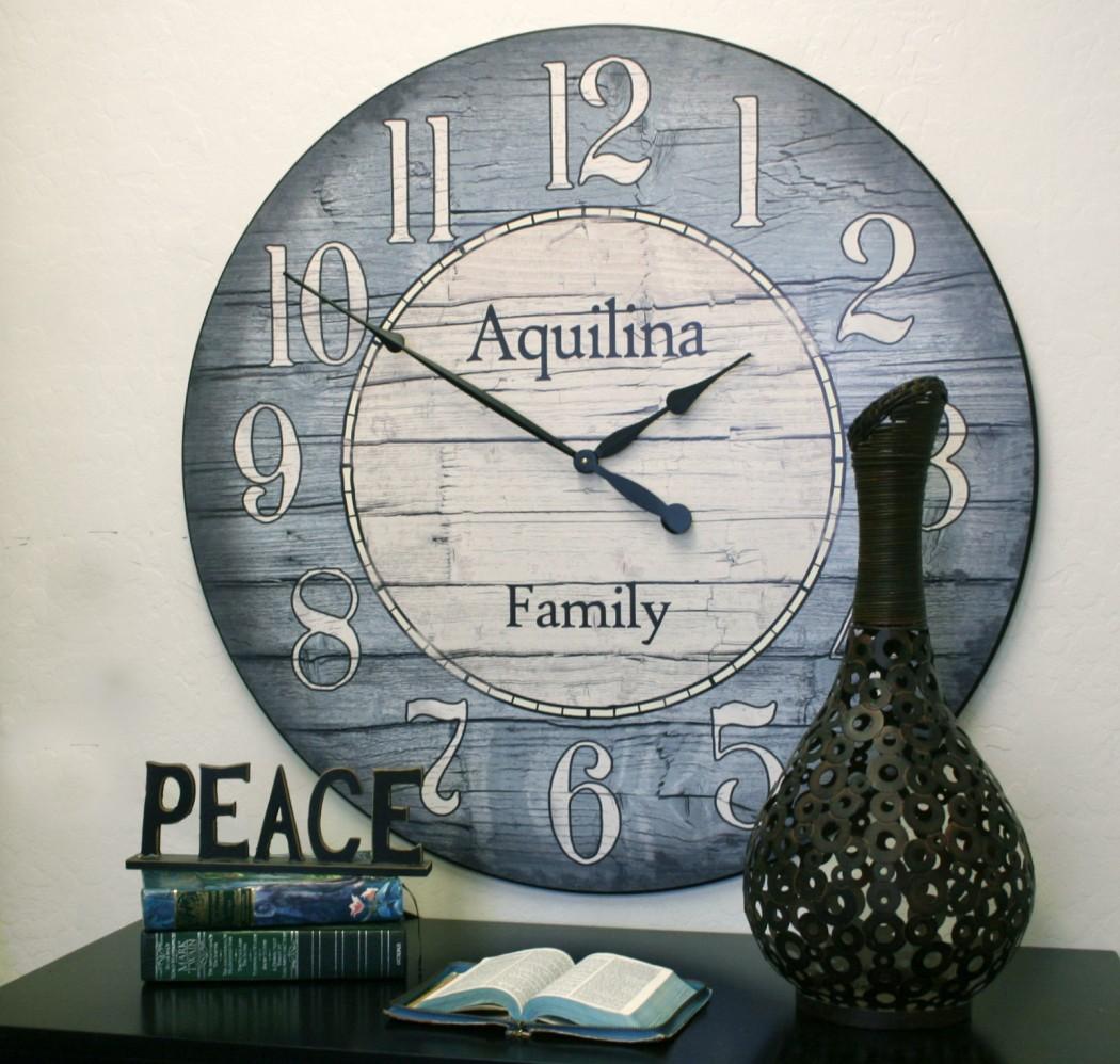 Boston Harbor Blue Clock