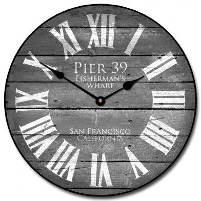 Pier 39 Gray Clock
