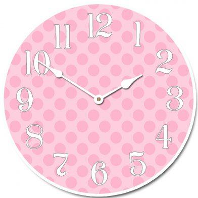 Pink Polka Dot Clock