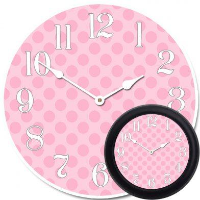 Pink Polka Dot Clock mix