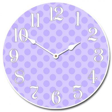 Purple Polka Dot Clock