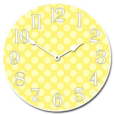 Yellow Polka Dot Clock