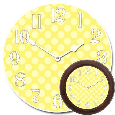 Yellow Polka Dot Clock mix