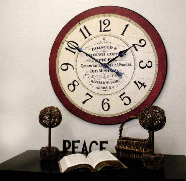 Red Kitchen Clock