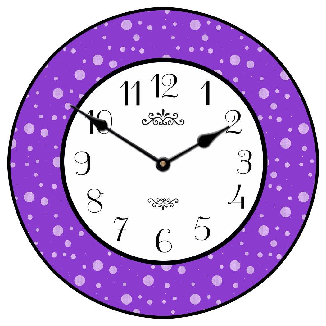 Purple dots clock