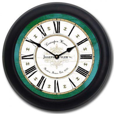 Vermont Green Clock1 blk frm
