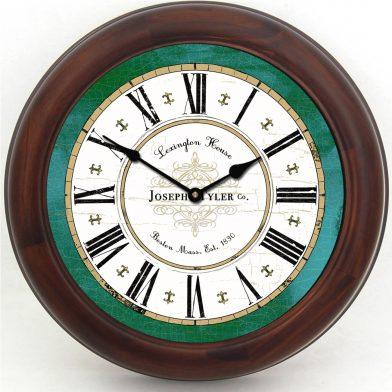 Vermont Green Clock1 brn frm