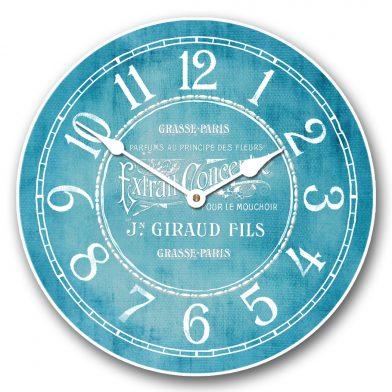 Vintage Parfum Teal Clock