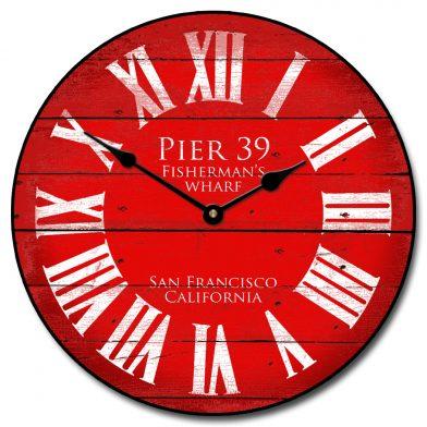 Pier 39 Red Clock