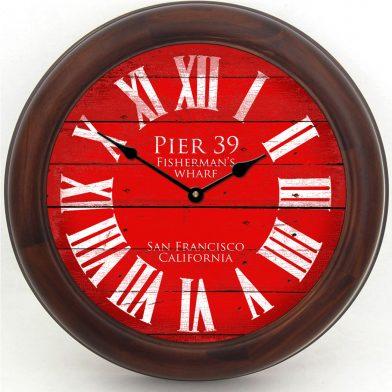 Pier 39 Red Clock brn frm