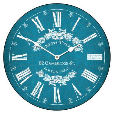 Charmant Blue Clock