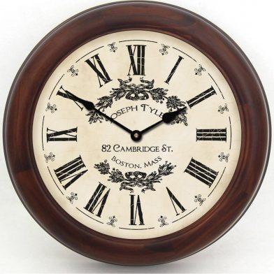 Charmant White Clock brn frm