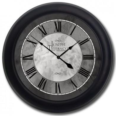Grand Estate Clock blk frm