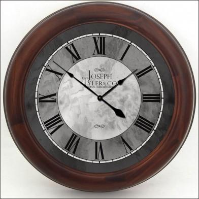 Grand Estate Clock brn frm