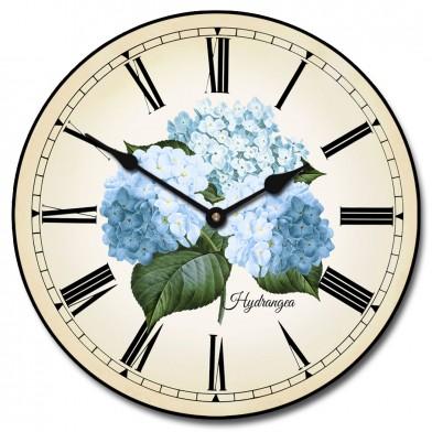 Hydrangea Clock
