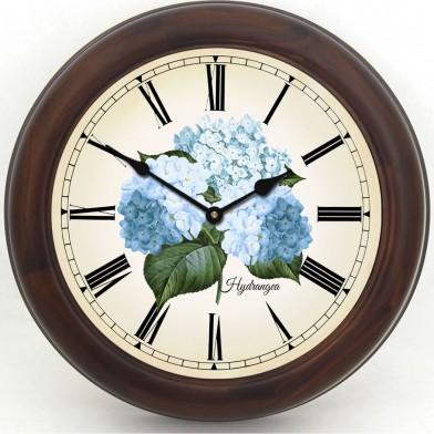 Hydrangea Clock brn frm