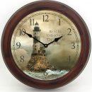 Lighthouse 2 Clock brn frm