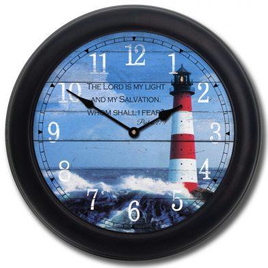 Lighthouse Clock blk frm