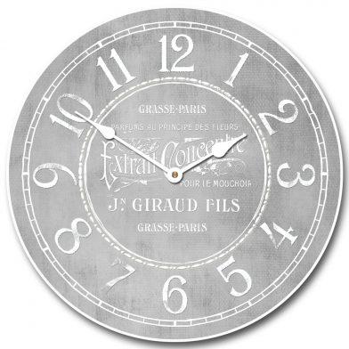 Vintage Parfum Gray Clock