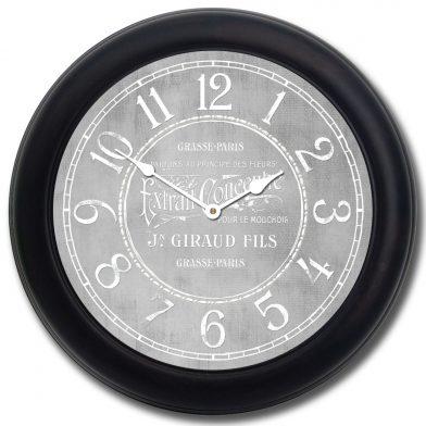 Vintage Parfum Gray Clock blk frm