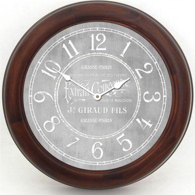 Vintage Parfum Gray Clock brn frm
