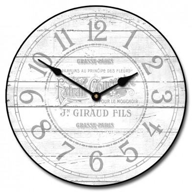 Vintage Parfum White Clock