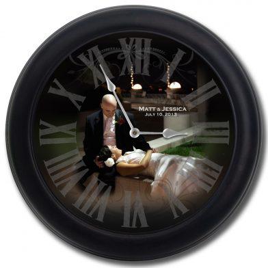 Wedding Clock 10 blk frm