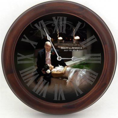 Wedding Clock 10 brn frm