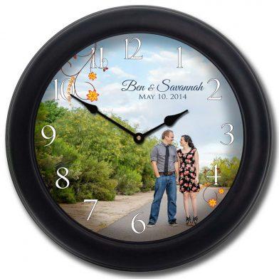 Wedding Clock 9 blk frm