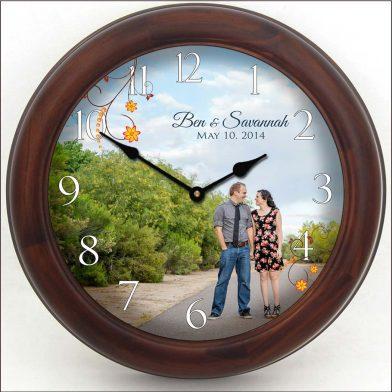 Wedding Clock 9 brn frm