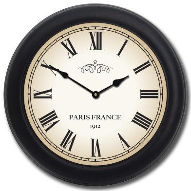 1912 Paris Clock blk frm