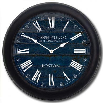 Barnwood Navy Blue Clock blk frm