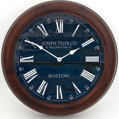Barnwood Navy Blue Clock brn frm