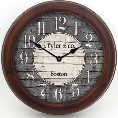 Boston Harbor Gray Clock brn frm