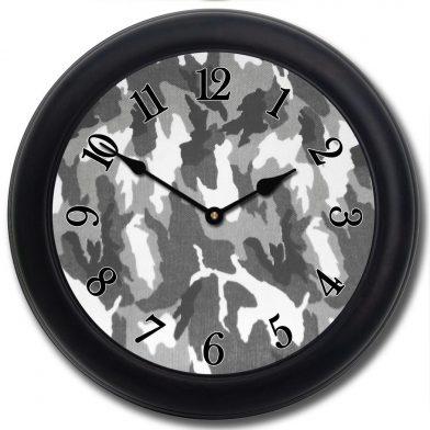 Camo Clock 4 blk frm