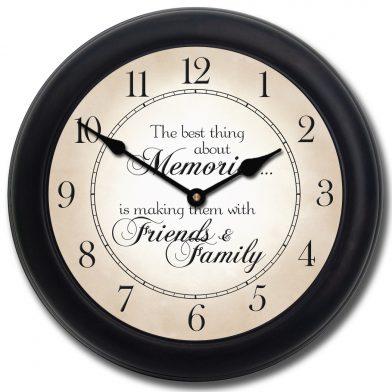 Memories Clock blk frm