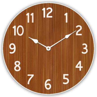 Organic Brown Clock