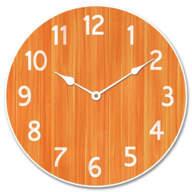 Organic Orange Clock