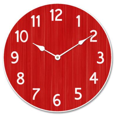 Organic Red Clock