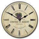 Wine Barrel Lid Clock 3