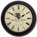 Wine Barrel Lid Clock 3 blk frm