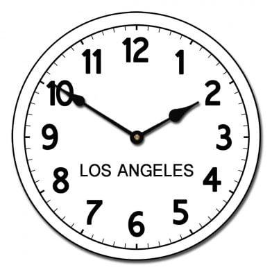 world clock Los angeles