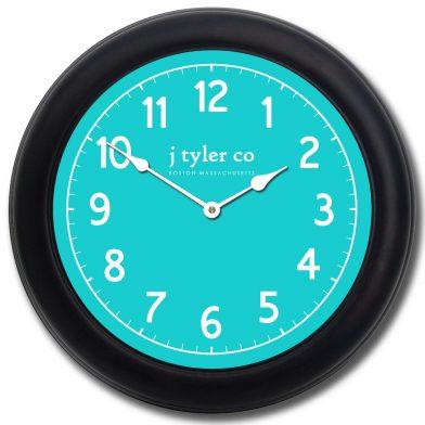 New Traditional Aqua Clock blk frm