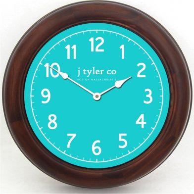 New Traditional Aqua Clock brn frm