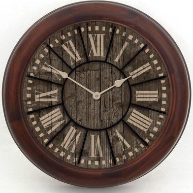 Santa Fe Clock brn frm
