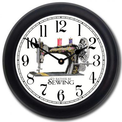 Sewing Room Clock blk frm