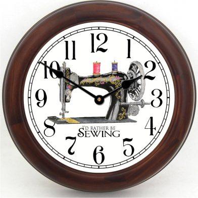 Sewing Room Clock brn frm