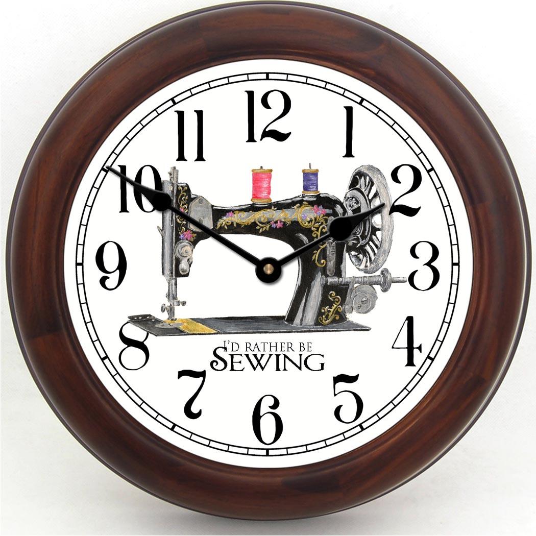 Sewing Room Clocks   Sewing Machine Wall Clock   TBCS